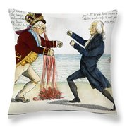 War Of 1812: Cartoon, 1813 Throw Pillow