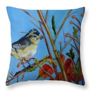 Warbling Verio Throw Pillow