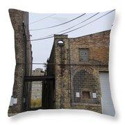Warehouse Beams And Drain Pipe Throw Pillow