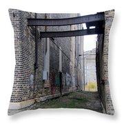 Warehouse Beams And Grafitti Throw Pillow