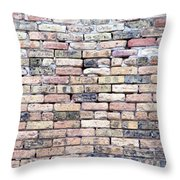 Warehouse Brick Wall Throw Pillow