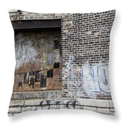 Warehouse Grafitti 2 Throw Pillow
