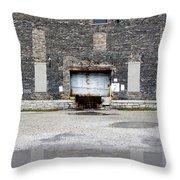 Warehouse Loading Dock Door 3 Throw Pillow