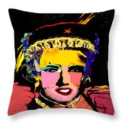 Warhollage 2d Throw Pillow