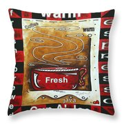 Warm Cup Of Joe Original Painting Madart Throw Pillow