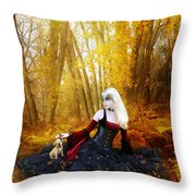 Warm Friends Throw Pillow by Mary Hood