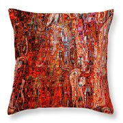 Warm Meets Cool - Abstract Art Throw Pillow