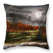 Warm Night And Meteor Shower Throw Pillow
