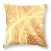 Warm Strings Of Glowing Light Throw Pillow