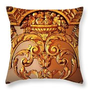 Warm Wood Design With Border Throw Pillow