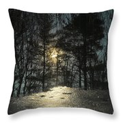 Warmth Above Icy Reflections Throw Pillow