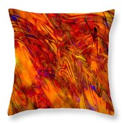 Warmth And Charm - Abstract Art Throw Pillow