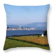 Warrenpoint From Carlingford, Co. Down Throw Pillow