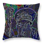 Warriors Throw Pillow by Randall Weidner