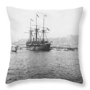 Warship Kaiser On Which Kaiser Wilhelm II Of Germany Came To Istanbul Throw Pillow