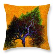 Was A Crooked Tree  Grunge Art Throw Pillow