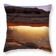 Washer Woman Arch Seen Through Mesa Throw Pillow