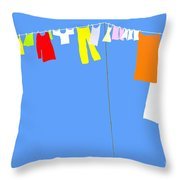 Washing Line Simplified Edition Throw Pillow