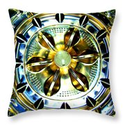 Washing Machine Drum Throw Pillow by Randall Weidner