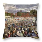 Washington: Abolition, 1866 Throw Pillow