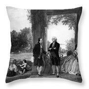 Washington And Lafayette, Mount Vernon Throw Pillow