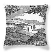 Washington, D.c., 1840 Throw Pillow