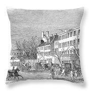 Washington, D.c., 1853 Throw Pillow