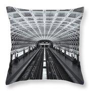 Washington Dc Metro Station II Throw Pillow