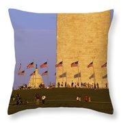 Washington Dc Sunset Throw Pillow