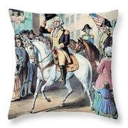 Washington Enters New York City After Throw Pillow