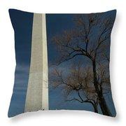 Washington Monument's World Famous Kite Eating Tree Throw Pillow