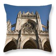 Washington National Cathedral Entrance Throw Pillow