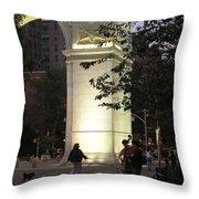 Washington Square Park Throw Pillow