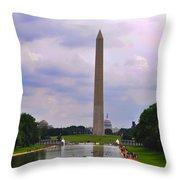 Washington - The Gathering Storm Throw Pillow