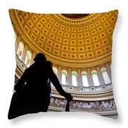 Washington Under Capitol Dome Throw Pillow