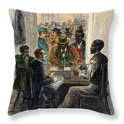 Washington: Voting, 1867 Throw Pillow