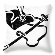 Washingtons Birthday Throw Pillow