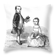Washingtons Stepchildren Throw Pillow