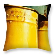 Waste Drums Throw Pillow