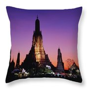Wat Arun In Bangkok, Thailand Throw Pillow