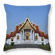 Wat Benchamabophit Ubosot Dthb279 Throw Pillow