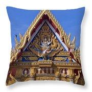 Wat Chai Mongkol Ubosot Gable Dthu609 Throw Pillow