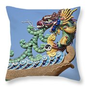 Wat Chaimongkol Pagoda Dragon Finial Dthb787 Throw Pillow