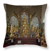 Wat Chamni Hatthakan Ubosot Interior Dthb929 Throw Pillow