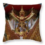 Wat Hua Lamphong Ubosot Roof Garuda Dthb1065 Throw Pillow