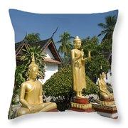 Wat Mai Buddhas Throw Pillow