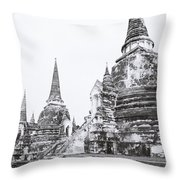 Wat Phra Si Sanphet  Throw Pillow