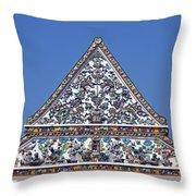 Wat Ratcha Orasaram Ubosot Gable Dthb427 Throw Pillow