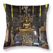 Wat Ratcha Orasaram Ubosot Interior Dthb859 Throw Pillow