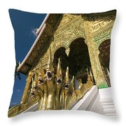 Wat Sen Naga Heads Throw Pillow
